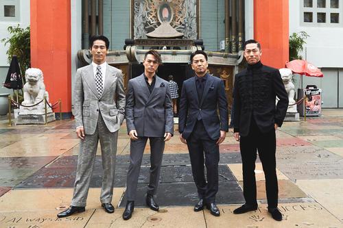 「ショートショートフィルムフェスティバルinハリウッド」に出席した、左から小林直己、今市隆二、HIRO、AKIRA