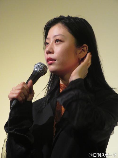 映画「LAPSE」初日舞台あいさつに出席したSUMIRE