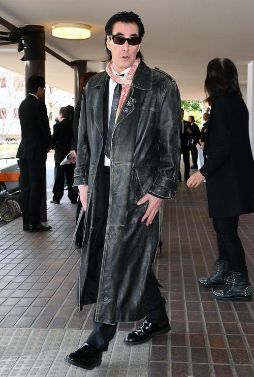 お別れの会「内田裕也 Rock'n Roll葬」の弔問に訪れた鮎川誠(撮影・滝沢徹郎)