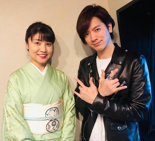 TOKYO FM「DAIGOのOHAYO-WISH!!」の収録に臨んだ山崎まゆみ氏(左)とDAIGO