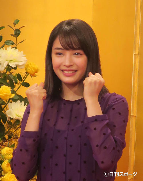 NHK連続テレビ小説「なつぞら」ヒロインの広瀬すず(2017年11月20日)