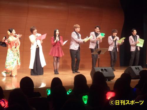 第1回ザ・令和ライブに出演した左から工藤あやの、KANA、門松みゆき、純烈の4人