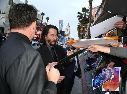主演映画のプレミアイベントに出席したキアヌ・リーブス(C)Kevin Winter/Getty Images