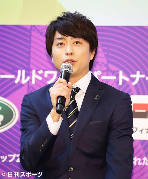 ラグビーワールドカップ2019日本大会の意気込みを語る櫻井翔(撮影・河田真司)