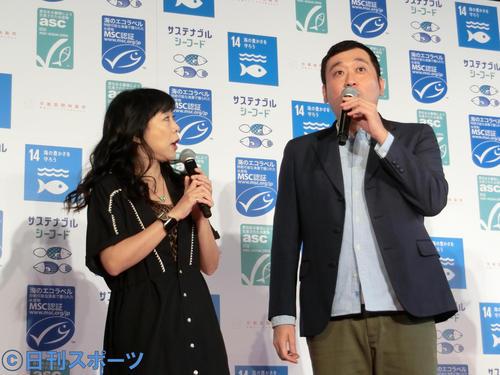 椿鬼奴(左)とグランジ大(18年撮影)