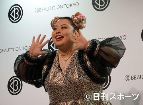 美容イベント「Beautycon Tokyo」のステージに登場した渡辺直美(撮影・遠藤尚子)
