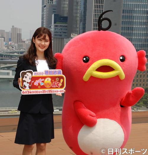 ABCテレビの新人、増田紗織アナウンサー(撮影・松浦隆司)