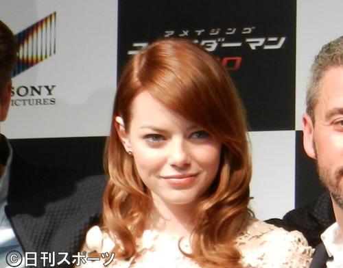 エマ・ストーン(2012年1月18日撮影)