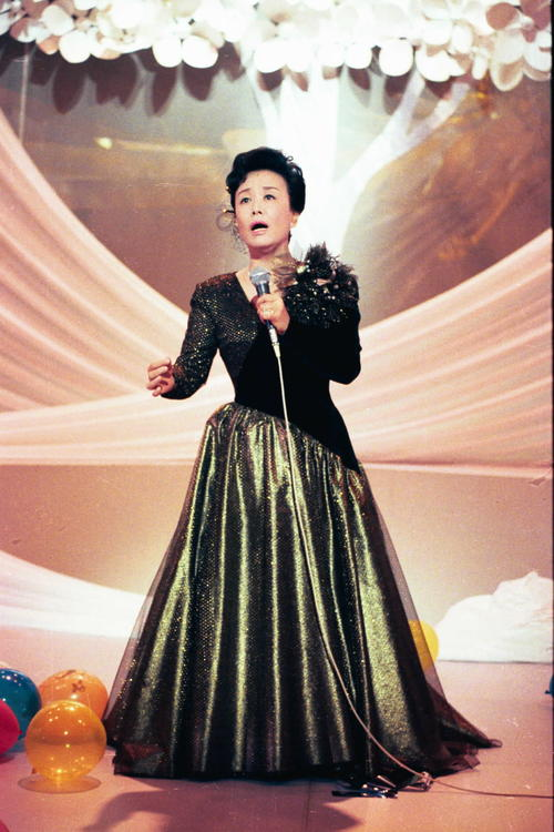 美空ひばりさん(1988年12月9日撮影)