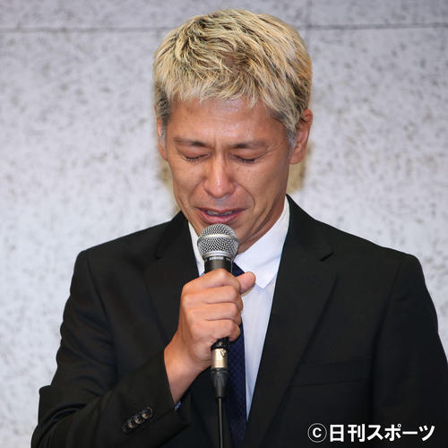 謝罪会見に臨む田村亮(撮影・河田真司)