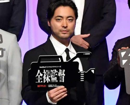 Netflixオリジナルシリーズ「全裸監督」のワールドプレミアに出席した山田孝之