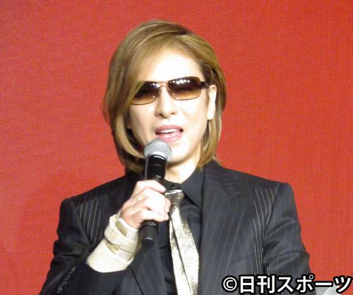 X JAPANのYOSHIKI(2018年7月13日撮影)