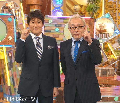 林修氏(左)と所ジョージ(2018年10月3日撮影)