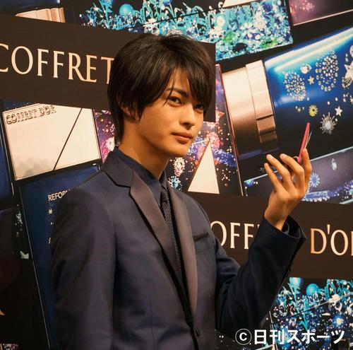 コフレドール「Twinkle Night Collection」PR担当就任発表会に出席した神尾楓珠(撮影・遠藤尚子)
