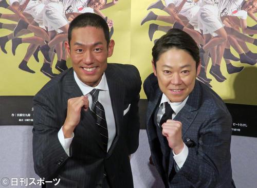 中村勘九郎(左)と阿部サダヲ