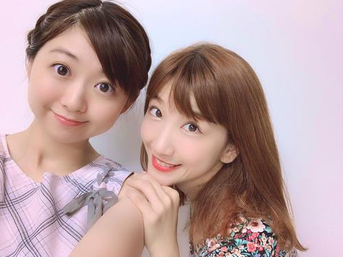 キャナァーリ倶楽部の小川真奈(左)と高田あゆみ