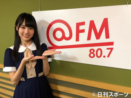 新曲のPRキャンペーンで名古屋の@FMを訪れた乃木坂46の賀喜遥香