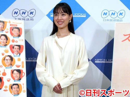 NHK次期連続テレビ小説「スカーレット」の試写会に出席した戸田恵梨香(撮影・星名希実)