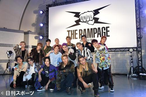 結成5周年記念イベントを行ったTHE RAMPAGE(撮影・大友陽平)