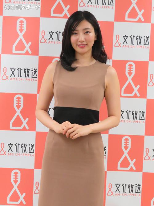 文化放送定例社長会見にゲストで出席した福井セリナ