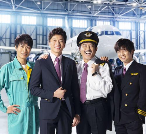 テレビ朝日系ドラマ「おっさんずラブ-in the sky-」に出演する、左から戸次重幸、田中圭、吉田鋼太郎、千葉雄大