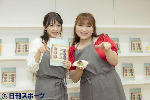 イベントに出席した勝木友香氏(左)とりんごちゃん