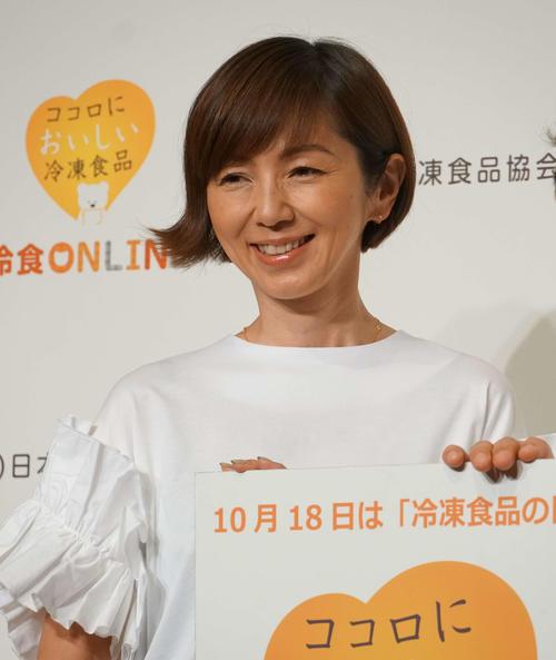 冷凍食品の日PRイベントに出席した渡辺満里奈(撮影・遠藤尚子)