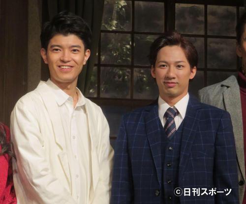 「ザ・フォーリナー」に主演する江田剛(右)と高田翔