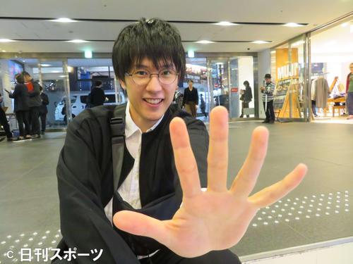 「スペシャルアクターズ」初日に観客としてお忍びで駆け付けた「カメラを止めるな!」出演の長屋和彰(撮影・村上幸将)
