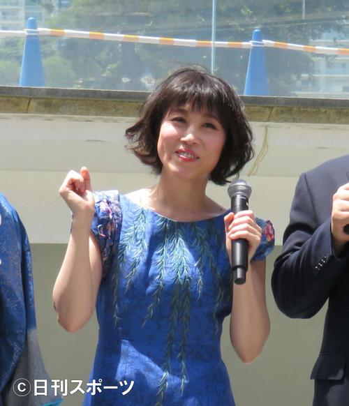 演歌歌手水森かおり(2019年7月26日撮影)