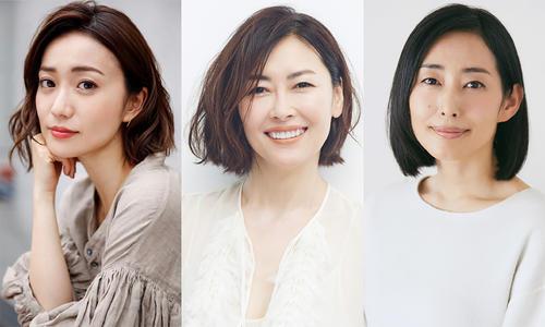来年1月期放送のWOWOW連続ドラマW「彼らを見ればわかること」に出演する、左から大島優子、中山美穂、木村多江