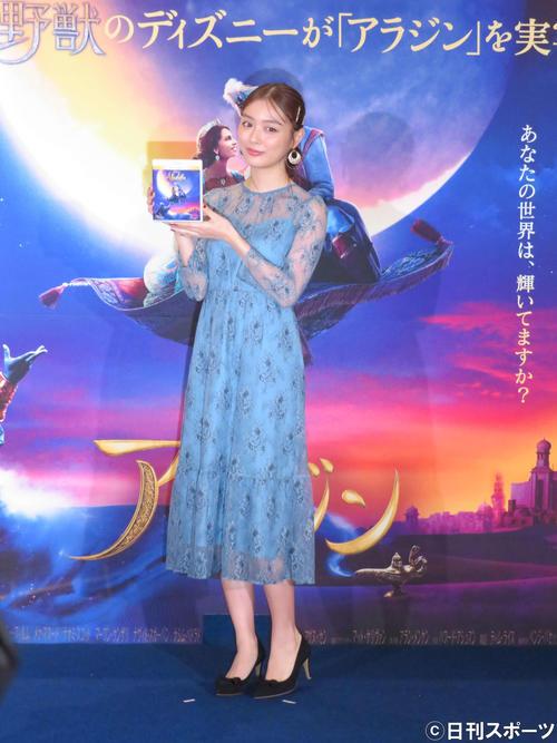「集英社MORE loves『アラジン』魔法のアラビアンパーティー」に出席した内田理央(撮影・大井義明)