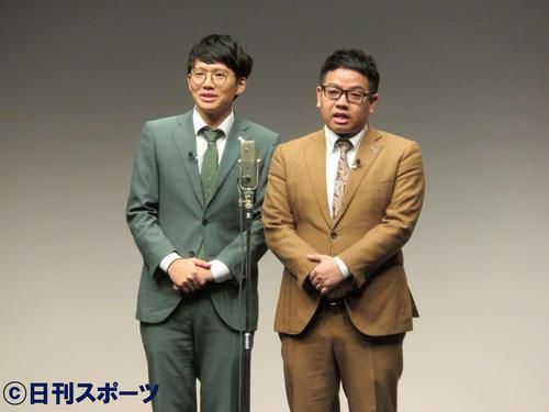ミキの亜生(左)と昴生(2018年12月14日撮影)