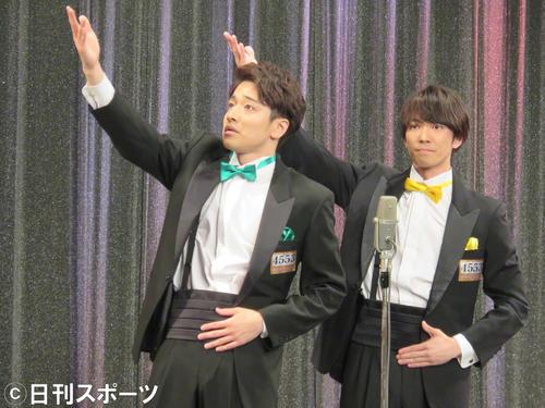 M-1グランプリ2019の3回戦に出場した福田悠太(左)と辰巳雄大