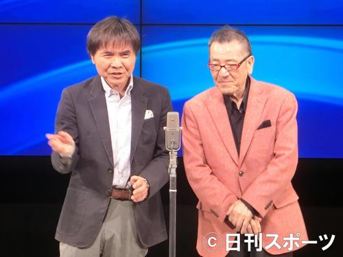 「Wヤング」平川幸男さん(右)、左は相方の佐藤武志(2019年4月9日撮影)