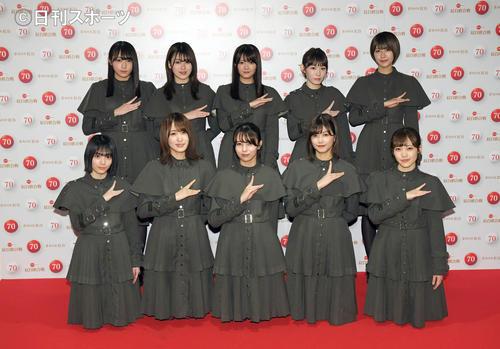 熱いパフォーマンスを披露した欅坂46(2018年12月31日撮影)