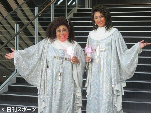 「天使にラブ・ソングを」に主演する森公美子(左)と朝夏まなと