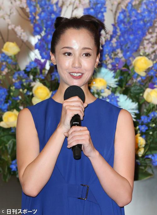 3月、NHK大河ドラマ「麒麟がくる」出演者発表会見で熱い思いを語る沢尻エリカ(撮影・丹羽敏通)