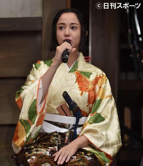 6月、大河ドラマ「麒麟がくる」クランクイン会見に出席した沢尻エリカ容疑者