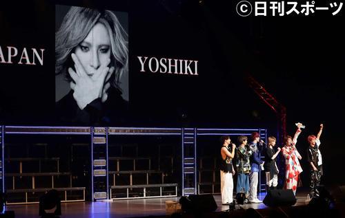 SixTONESのデビュー曲はXJAPANのYOSHIKIさんが提供することが告知された(撮影・丹羽敏通)