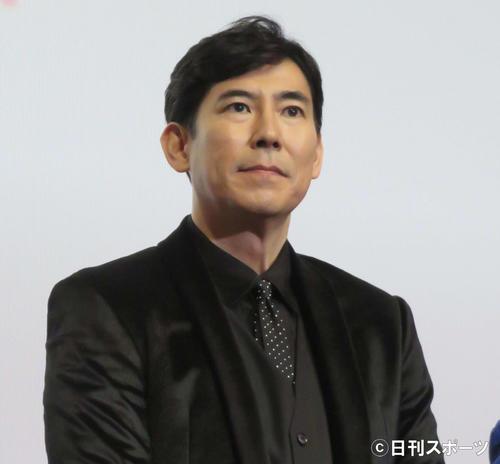 映画「アパレル・デザイナー」の完成披露試写会に出席した高嶋政伸