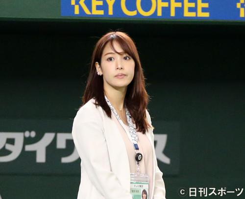 テレビ東京の鷲見玲奈アナウンサー(19年5月22日撮影)