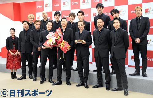 「2020超級巨星紅白藝能大賞」の収録で訪れた台湾で会見を行ったEXILE(撮影・大友陽平)