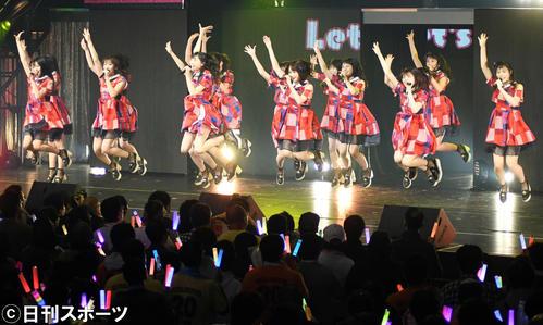 約1年9カ月ぶりの単独コンサートを行ったNGT48(撮影・大友陽平)