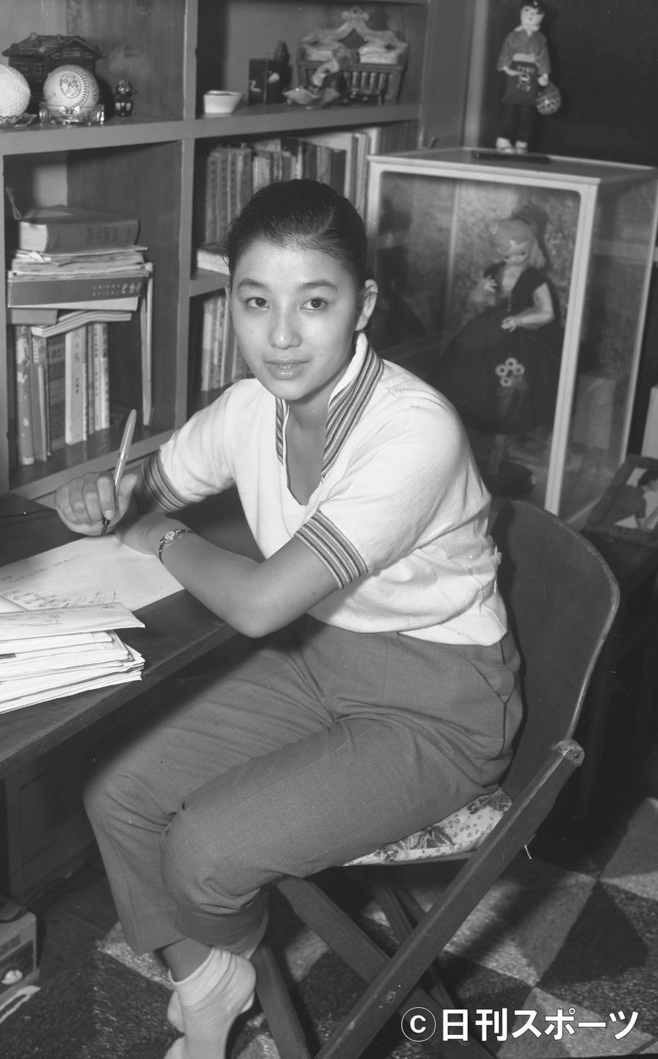 55年8月当時の青山京子さん