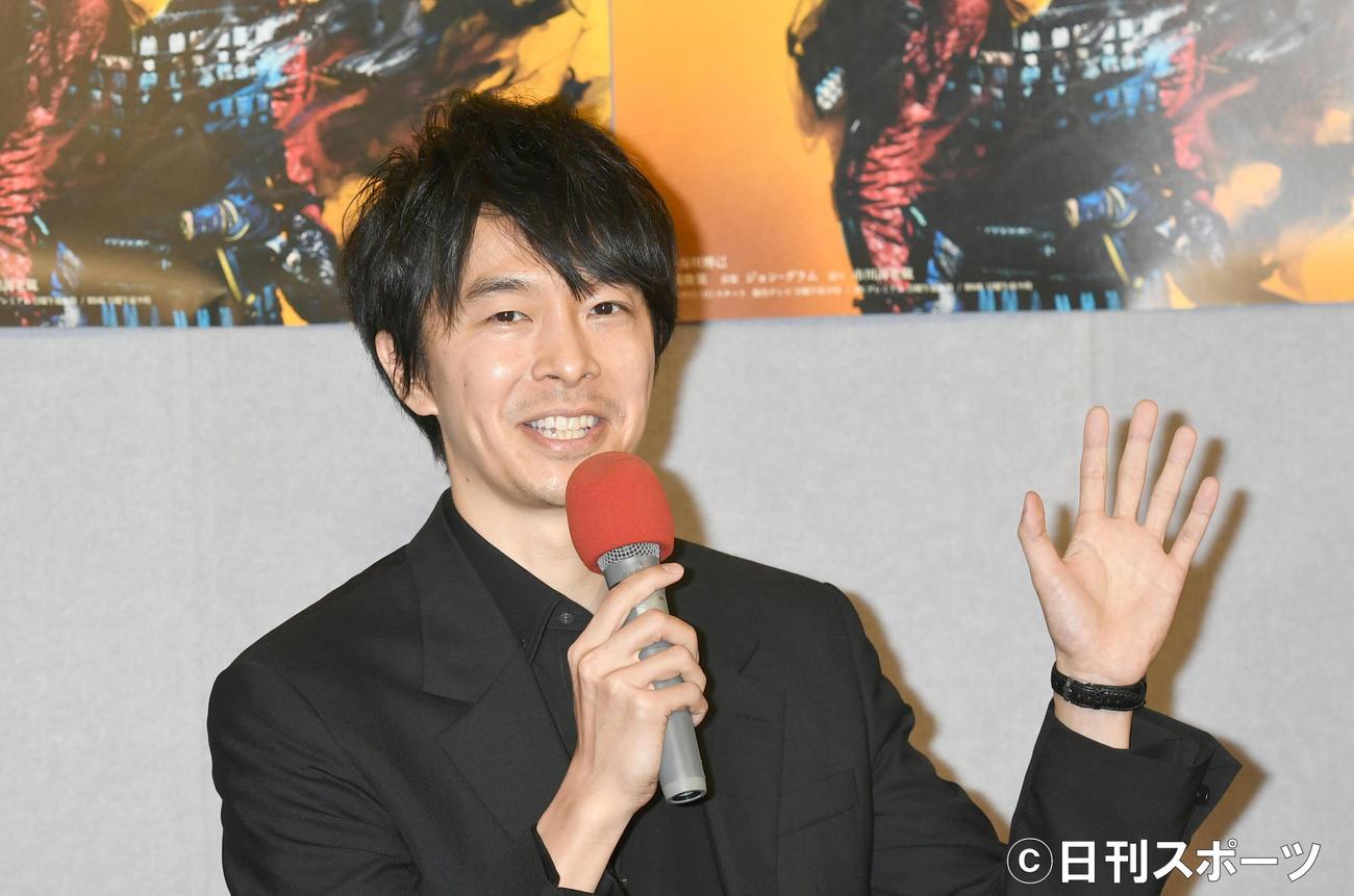 「麒麟がくる」完成試写会を終え、会見する明智光秀役の長谷川博己(2020年1月16日)