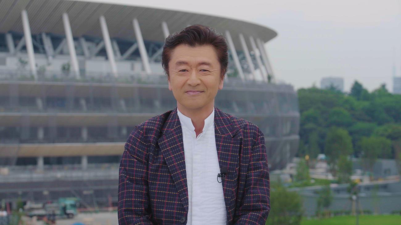 番組応援テーマソング「SMILE~晴れ渡る空のように~」を初披露した桑田佳祐