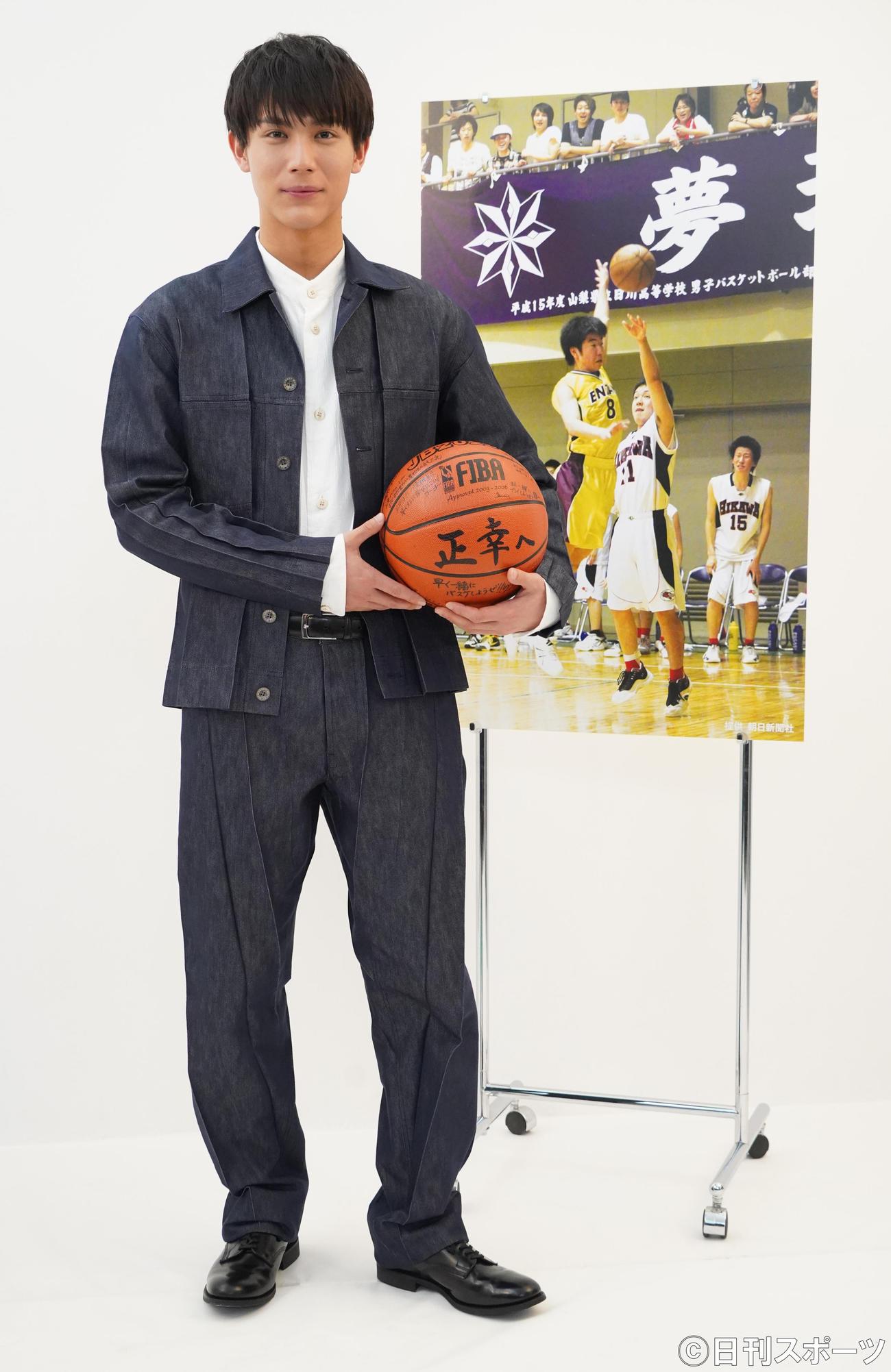 BS-TBS開局20周年記念ドラマ「左手一本のシュート」記者発表会見に出席した中川大志(撮影・佐藤成)