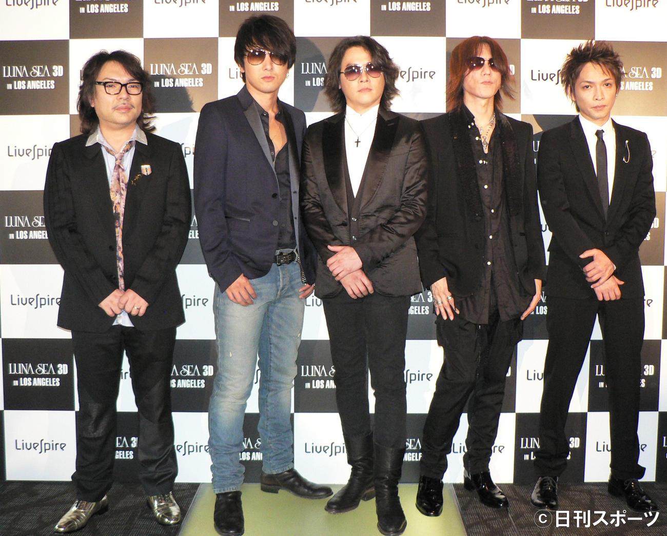 LUNA SEA左から真矢、J、RYUICHI、SUGIZO、INORAN(2011年5月29日撮影)