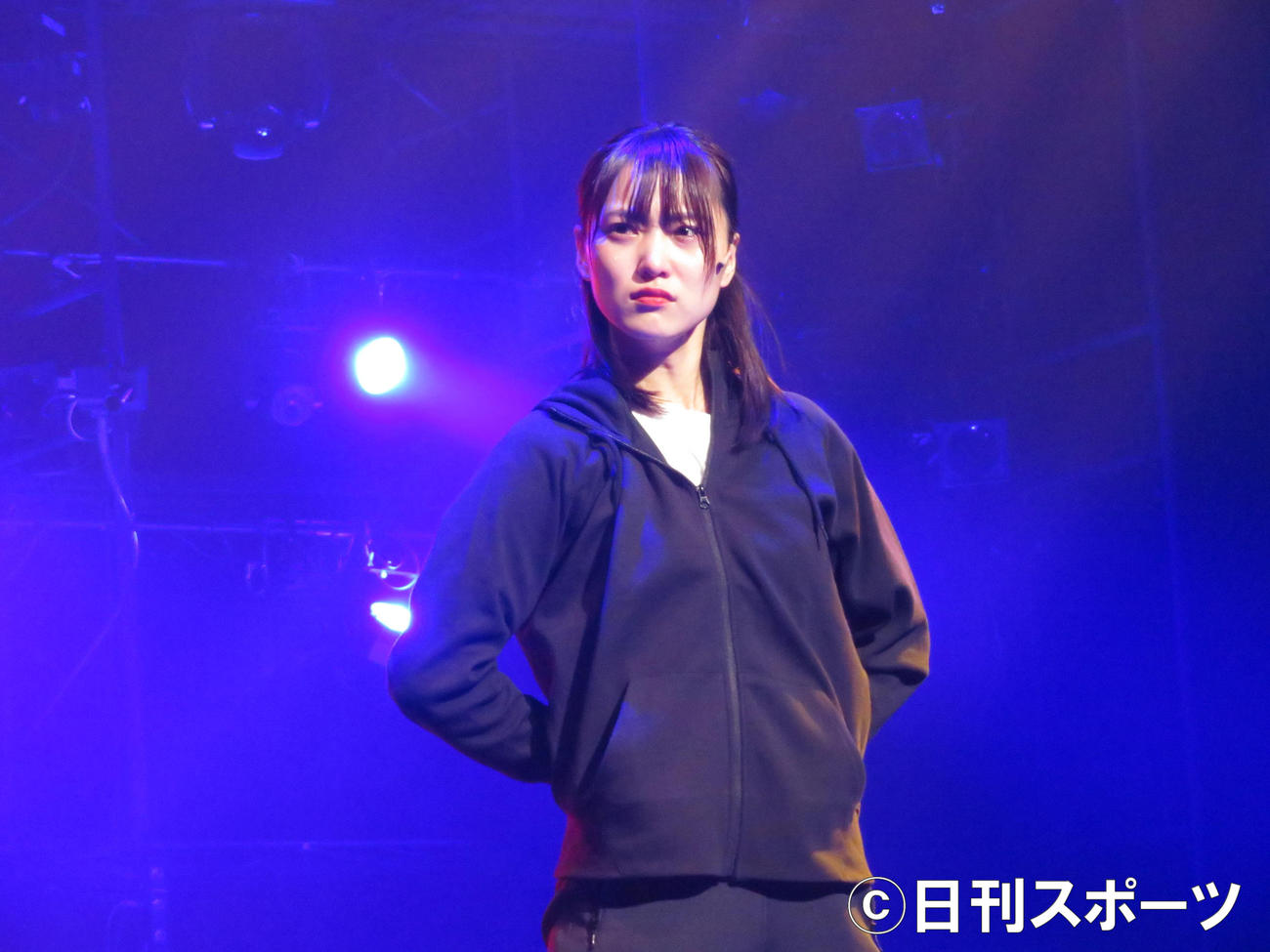 主演舞台「飛龍伝2020」で熱演する菅井友香(撮影・横山慧)